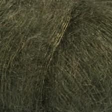 Drops Kid- Silk Uni Color Garn Mohair Silke 25 g mörk grön 19