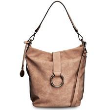 Laukku, perforoitu, metallinhohtoinen kameli