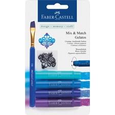 Akvarelliliitu Faber-Castell Gelatos 4 sinistä nyanssia