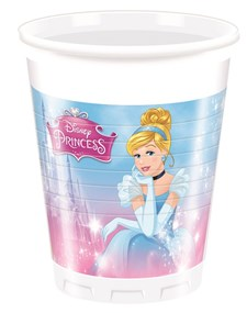 Disney Princess Plastmuggar, 8 st