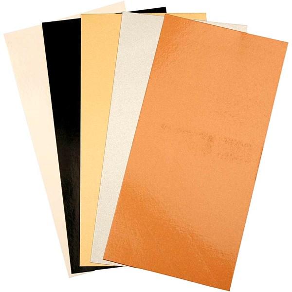 Color Dekor värikalvo, arkki 10x20 cm, 5 laj. arkki, metallic-värit