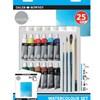 Akvarellmaling Startsett Simply 25 deler