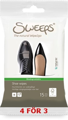 Sweeps® Shoe wipes, 15st