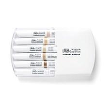 Graafinen Merkki Winsor & Newton Pigment Marker Setti 6 Skin Tones