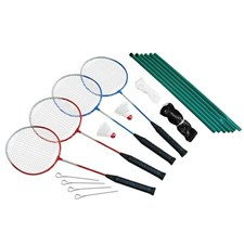 Badminton set 4 spelare ink Nät