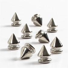 Nitter, dia. 8 mm, H: 10 mm, 40 stk., sølv