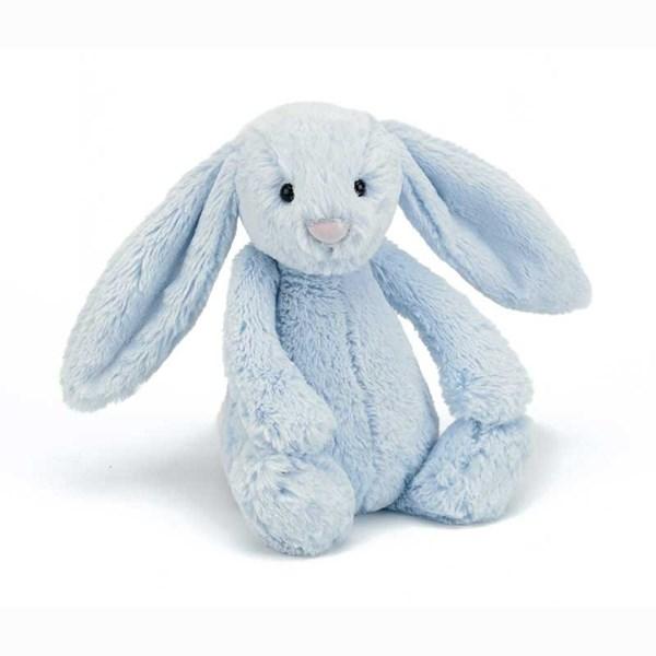 Bashful Bunny  blå  Jellycat - gosedjur