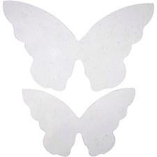 Foliosiivet perhoselle, koko 12x7 cm, koko 16x9,5 cm, 20 kpl