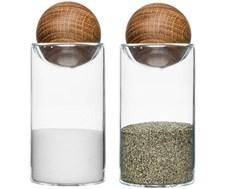 Sagaform Oval Oak Salt- och Pepparset 11.5 cm