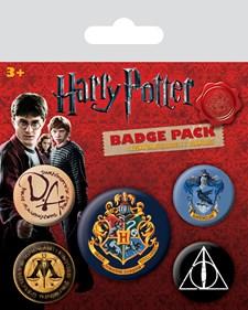 Harry Potter Badges 5-pack Hogwarts