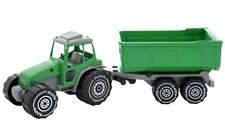 Traktor (grön) med släpvagn, Plasto