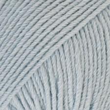 Drops, Cotton Merino Uni Colour, Garn, Ullmiks, 50 g, Isblå 09