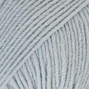 Drops Cotton Merino Uni Colour Lanka Villasekoitus 50g Ice Blue 09