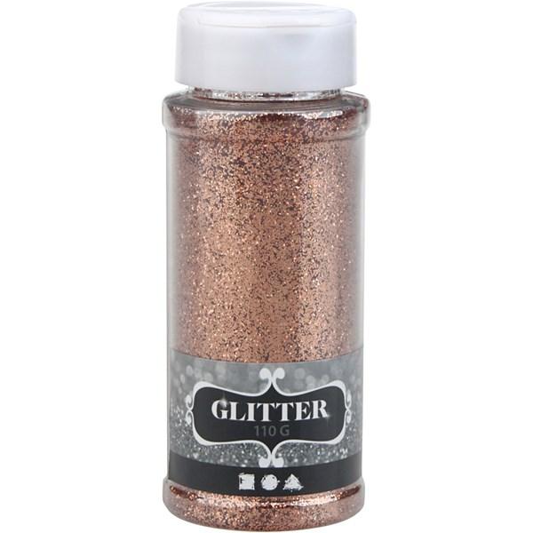 Glitter, 110 g, kobber