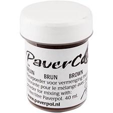 Paver Color, 40 ml, brun