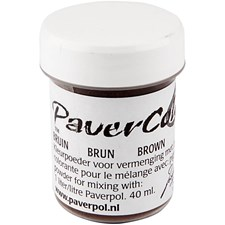 Paver Color, 40 ml, brun