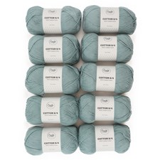 Adlibris Bomull 8/4 Garn 100g Sea Green A091 10-pack