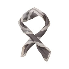 Edblad Border Silk Scarf Clay