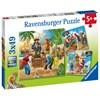 Adventure on the High Seas, Palapeli, 3x49 palaa, Ravensburger