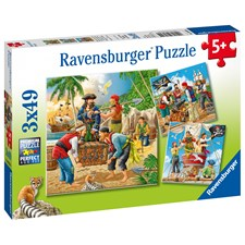 Adventure on the High Seas, Puslespill, 3x49 brikker, Ravensburger