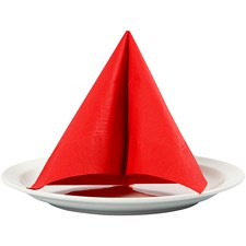 Servetter, stl. 33x33 cm, 20 st., röd
