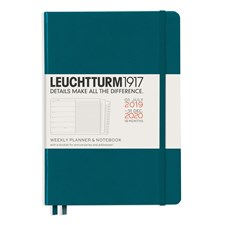 LT Academic Weekly Planner/Notebook 18 m 2019-2020 A5 pacific
