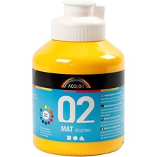 A-Color akryylimaali, 500 ml, keltainen