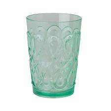 Rice Swirly Glas Akryl H:12.5 cm Pastell Grön