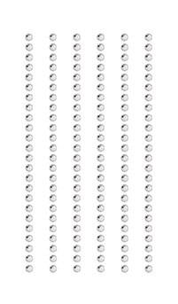 Klistremerke Strass Krystall, 3 mm 7/15 cm