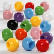 Plastpärlor Kongopärlor 10 mm 700 ml Mixade färger