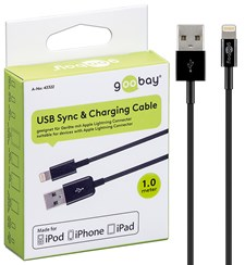 USB Laddarkabel Apple Lighting Svart