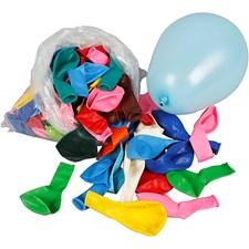 Ballonger, mixade färger, dia. 23 cm, Runda, 100st.