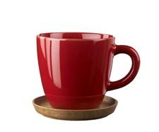 Kaffekopp med treskål, Höganäs, 33 cl, Eplerød, Rörstrand