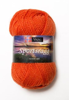 Viking of Norway Sportsragg Garn Ullmix 50g Orange 551