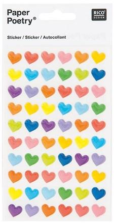 Klistermärken Hjärta 1 Ark
