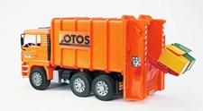 Man Søppelbil Orange, 1:16, Bruder