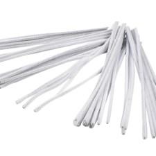 Piperensere, tykkelse 6 mm, L: 30 cm, hvit, 50stk.
