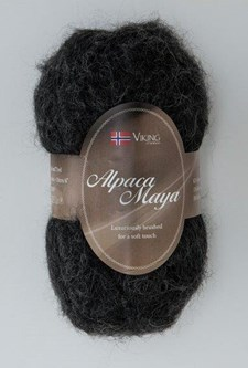 Viking of Norway Alpaca Maya 50 gr musta/hiilenharmaa