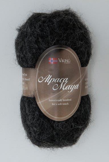 Viking of Norway Alpaca Maya 50 gr musta/hiilenharmaa