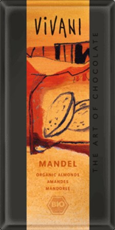 Vivani Ljus Choklad Mandel 100 g Ekologisk