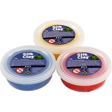 Silk Clay®, 3x14 g, blå, gul, röd