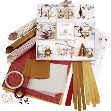 Hobbypakke Flette- og brettesett, 1 sett, gull, rød
