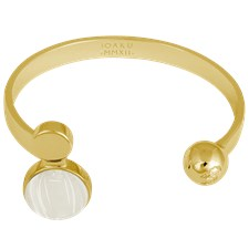 Ioaku Moon Cuff Alloy Gold/Cotton White