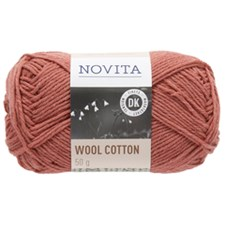 Novita, Wool Cotton, Garn, Ullmiks, 50 g, Granateple 532