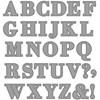 Kuvioterä, koko 2x1,5-2,5 cm, , aakkoset, 1kpl