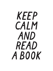 Keep calm and read a book Poster 30x40 cm