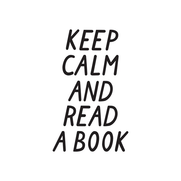 Keep calm and read a book Poster 30x40 cm  Wonderwall - posters & väggdekoration