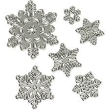 Kuvioterä, halk. 11,2x12,8 cm, lumihiutale, 1kpl