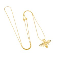 Ioaku Insect Mini Necklace Alloy Gold