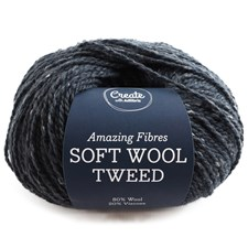 Adlibris Soft Wool Tweed 50g Dark Grey A475